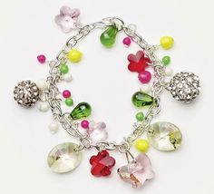 Swarovski Elements Spring Meadow Bracelet by Create Your Style.  Using Swarovski Elements pendants and pearls.