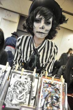 130420-0090 - Artism Market Underground Exhibition and Sale 01, Tokyo #facepaint #dia #muertos #day #dead