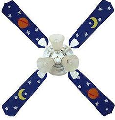 Ceiling fans help prevent SIDS. Instead of buying an expensive, themed fan, we could paint the blades of a cheap fan to match the rest of the room.