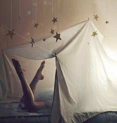living rooms, under the stars, tents, blanket forts, place