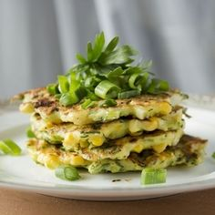 Corn and Zucchini Fritters! - Low Calorie side dish that goes with ANYTHING.  These are Awesome!!