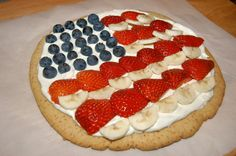 Sugar-Free 4th of July Dessert Pizza