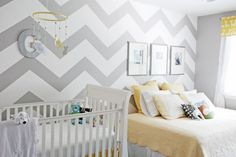 i love chevron!  here's a tutorial on how to paint the pattern on a wall.  it turned out beautifully!  #painting, #chevron