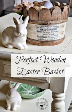 Wooden Easter Basket and a Transfer Method www.homeroad.net