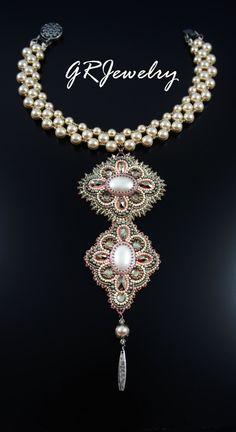 Champagne Pearl Necklace. $295.00, via Etsy.