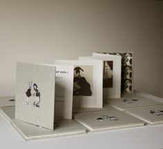 'Mommy What's a Goat Girl?'  Hand made concertina book, screenprinted by hand. Edition of 20 Andrew Magee 2011