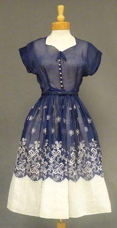 Organdy 1950's dress