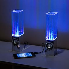 Light Show Fountain Speakers ... Classy.