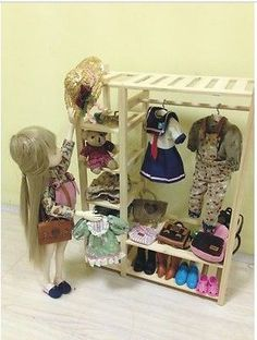 Dollhouse bedroom wardrobe - inspiration picture - originally 1:6 scale - eBay