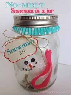 Craft for Kids: Snowman-in-a-Jar | simplykierste.com