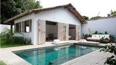 Inspiração para casa de praia | Piscina turquesa