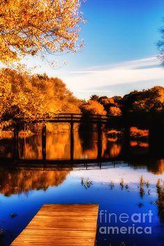 The old North Bridge on a fine warm autumn afternoon