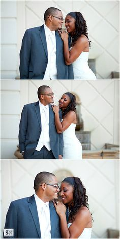 Wedding couple poses