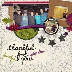 Thankful For You by Brenda Hollingsworth Made with the Thankful bundle from PixelScrapper.com