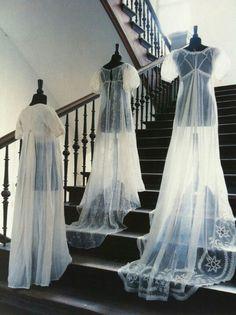 Sheer Regency dresses. Hamburg museum.