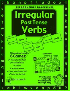 Past Tense Verb Games Bundle from FunToTeachStore on TeachersNotebook.com -  - We've packed this bundle with three different verb games, plus a song, to engage your students.