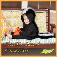 DIY Fluffy Skunk Costume - The Feather Place #DIY #Feathers #feathercrafts #DIYwithfeathers #marabou