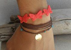 Wrap bracelet  bohemian braided friendship by Beadstheater on Etsy, $20.00