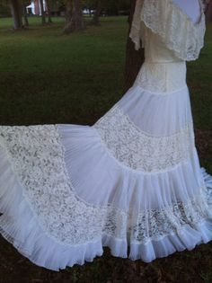 Lace dress boho hippie wedding dress William by deepsouthtreasures, $74.99
