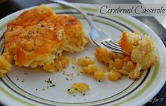 Table for 7: Cornbread Casserole. Another great yet quick and easy dish!