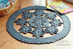 New Pattern – Crochet Flower Rug
