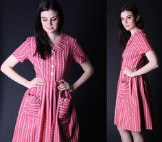 Vintage 50s Dress  1950s Dresses  50s Dresses   by aiseirigh, $126.00
