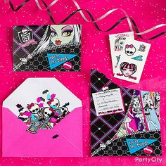 Send guests a Monster High tattoo in the envelope with your Monster High invitation.