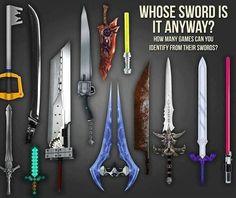 Video game swords