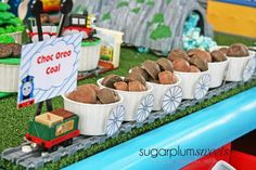 Treats at a Train Party #trainparty #treats