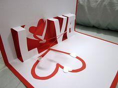 love valentine's day pop up card