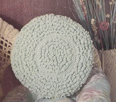 Pillow Crochet Patterns - 6 Designs Round and Square