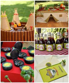 Outdoor Adventure Party with Lots of REALLY CUTE IDEAS via Kara's Party Ideas | Cake, decor, cupcakes, games and more! KarasPartyIdeas.com #...