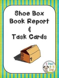 Engage kinesthetic learners with this Shoe Box Book Report and Task Card Bundle. ($) #TPT