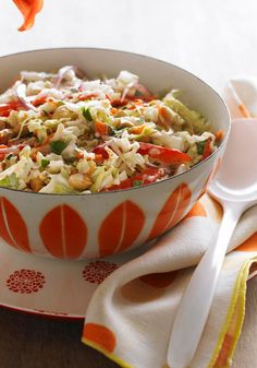 """Thai Slaw — A super-simple way to wow 'em with the classic Thai flavor quartet of sweet, tart, savory and sour. It basically says """"Move over"""" to every other slaw at a potluck."""