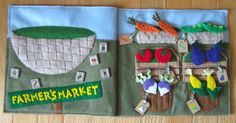 farmer market, book idea, market quiet, pattern, farmers market, quietbook, quiet books, book pages, busi book