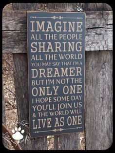 Imagine  Primitive Wood Wall Sign Word Art by GoldieLooWoodworks, $33.00