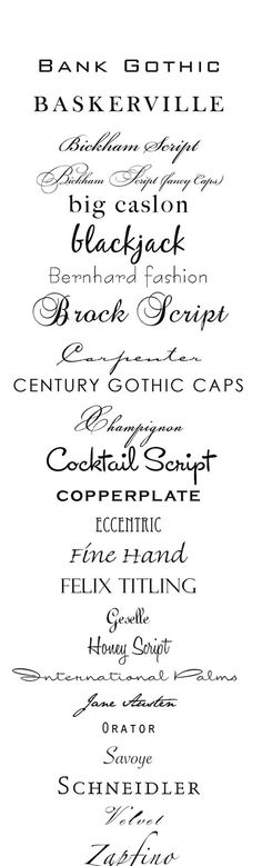Type Fonts