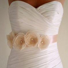Floral Wedding Sash