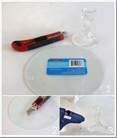 Glass Cake Stand tutorial