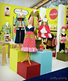 Craft + Show Designs: clothing displays