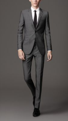 Slim Fit Wool Mohair Suit fashion, grey suits, burberry, burberri men, guy style, wool mohair, fit wool, mohair suit, slim fit