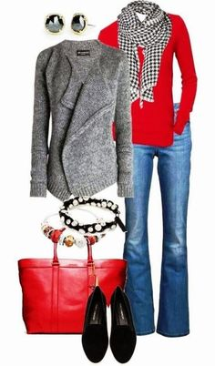 Stunningly Adorable Fall/Christmas Outfit For Women