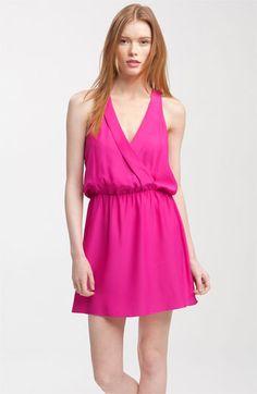 silk dress, peacock dress, pink dress
