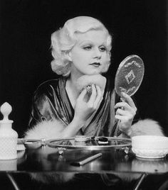 old hollywood glamour,  I love Jean Harlow!! Classic 1920s 1930s beauty with her trademark platinum blonde hair and pencil thin eyebrows! <3