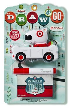 Draw & Go Target WOW gift card designed by graphic design/illustrator firm Invisible Creature