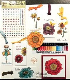 Create beautiful paper crafts with Blendabilities markers from Stampin' Up! Samples by Patty Bennett, www.PattyStamps.com