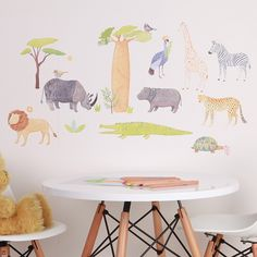 On Safari - Fabric Wall Stickers - SHOP