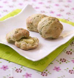 Scones au cheddar vert à la sauge - les meilleures recettes de cuisine dÔdélices