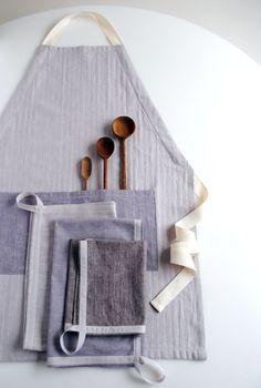 unisex apron and simple dishtowels