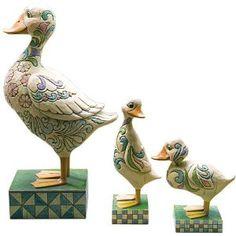 Jim Shore Duck Family Garden Statues, Set of 3